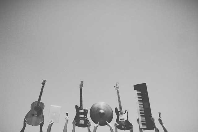 abstract music rock bw