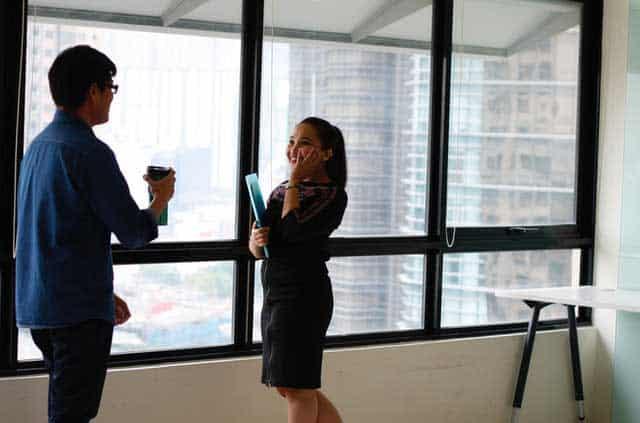 adult businesswoman conversation