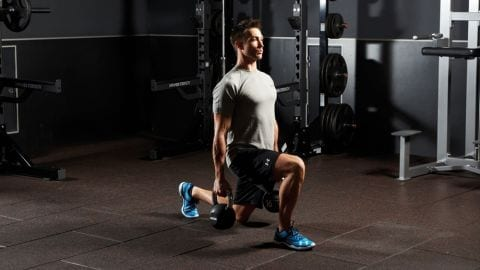 kettlebell walking lunge